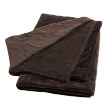 Thank You Velvafur Throw - Dark Chocolate