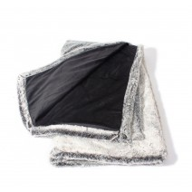 Velvafur Faux Fur Throw - Silver Gray