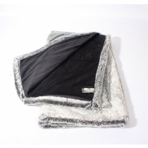 Thank You Velvafur Throw - Silver Gray