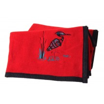 Israel Shotridge Trail Wool Blanket - Heron/Red