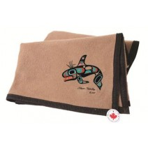 Israel Shotridge Trail Wool Blanket - Killer Whale / Camel